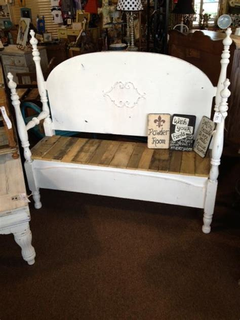 antique bed bench love this bench made from an antique bed pinned with