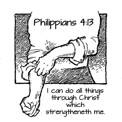 Coloring Page For Philippians 4 13 by Free Philippians Coloring Pages