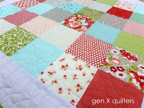 Simple Patchwork Quilt Pattern - genxquilters modern traditional quilting block of the