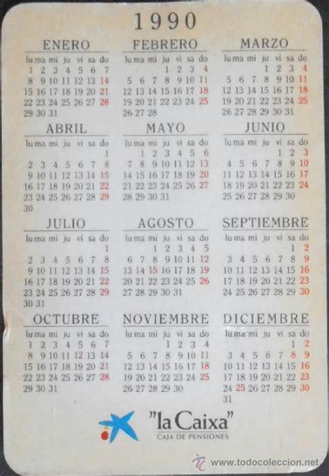 Calendario Ano 1990 12 Calendario De Bolsillo La Caixa A 241 O 1990 Co Comprar