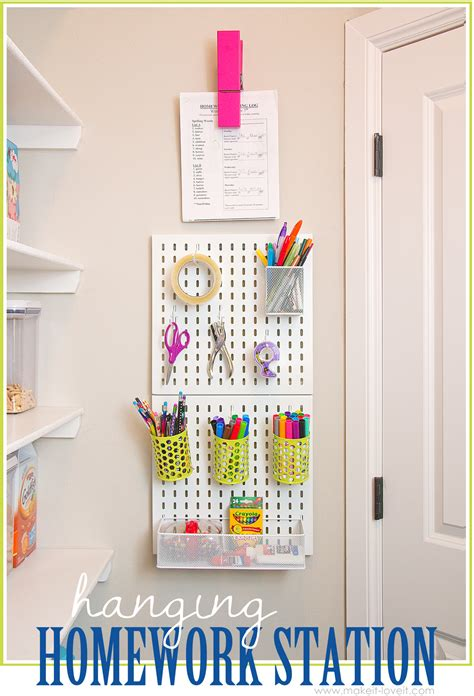 homework station hanging homework station or craft station make it