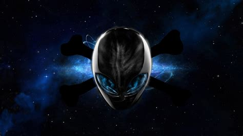 Skull Space space universe aliens digital skull and