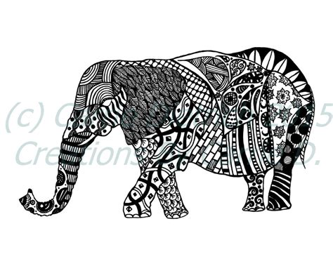 Wallpaper Sticker Gp017 Wall Paper Stiker Batik Tribal Bunga Ungu elephant black and white pen and ink animals