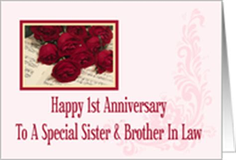 1st wedding anniversary gift for sister year specific wedding anniversary cards for sister