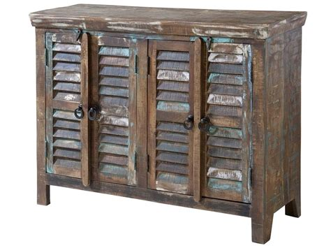 Cabinet World Bahamas by Stein World Cabinets Louvered 4 Door Cabinet