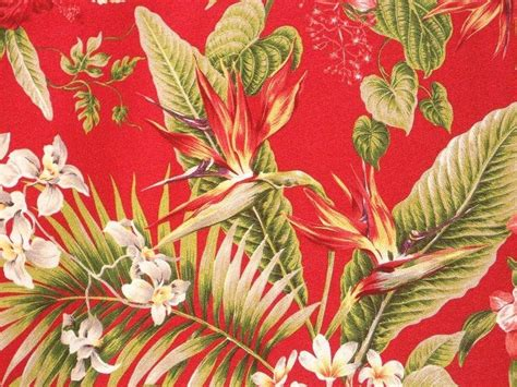 Upholstery Fabric Tropical by Tropical Hawaiian Barkcloth 100 Cotton Upholstery Fabric