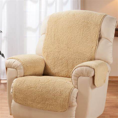 chair cover for recliner sherpa recliner protector by oakridge comforts chair