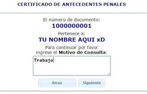 record policial en ecuador como sacar el certificado de antecedentes penales por