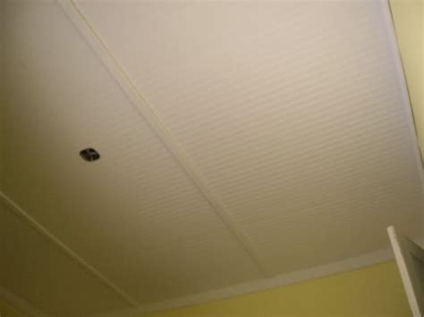 bead board ceiling using 4x8 sheets and trim to cover