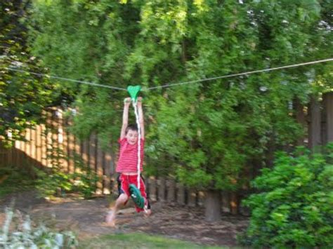 zip line for backyard bob s grand adventures backyard fort zip line