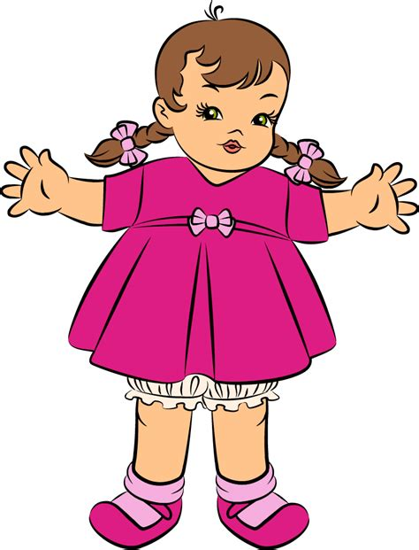 doll clipart pink doll clipart