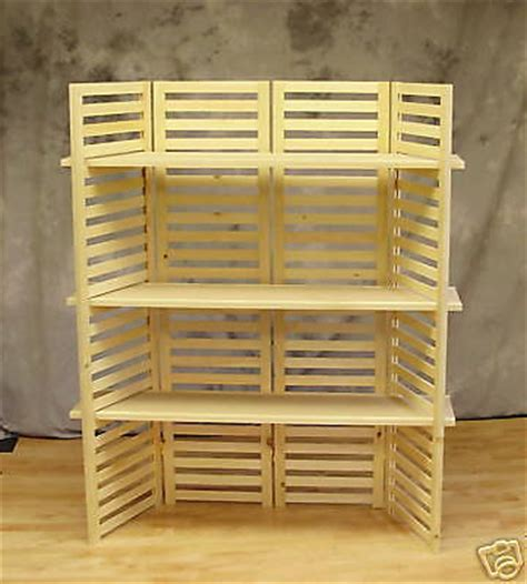 Portable Display Shelf by Display Shelf Portable With 3 Shelves 4 Panels 58 Quot T