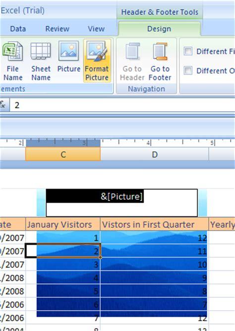 format header in excel 2007 inserting a watermark watermark 171 format style