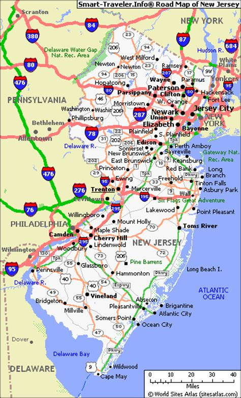 map new jersey map of new jersey map pictures