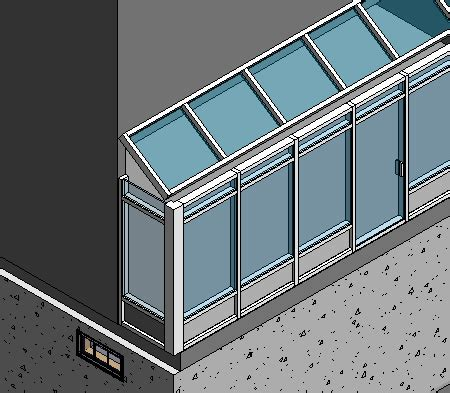 slanted curtain wall revitcity com connecting slope glaze roof to curtain walls