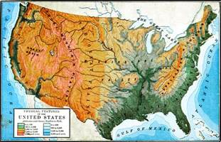 physiographic map of the united states physical features of the united states