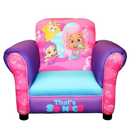 bubble guppies recliner bubble guppies that s so nice deluxe upholstered chair
