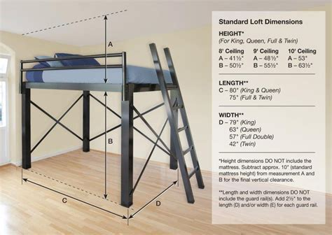 lofted bed frame best 25 size bunk beds ideas on bunk