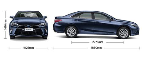 Toyota Camry Size Toyota Camry Hybrid Atara Sl Specifications