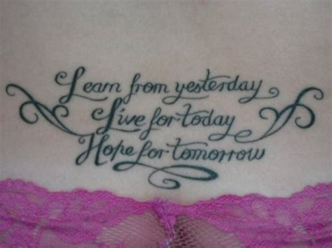 lower back tattoo quotes lower back quote tattoo picture at checkoutmyink com