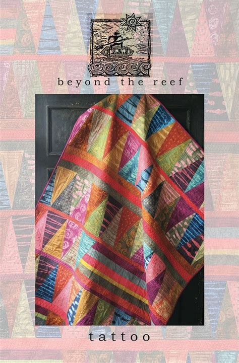 quilt tattoo beyond the reef marcia derse fabric quilt modern