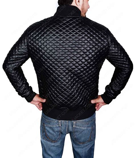 Mens Quilted Black Jacket by Quilted Style Mens Black Leather Bomber Jacket Click To Buy