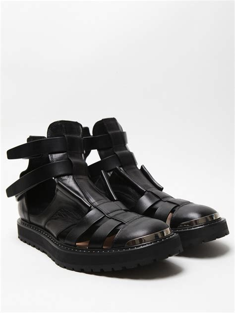 mens jelly sandals neil barrett s hybrid jelly boot sandal in black x y