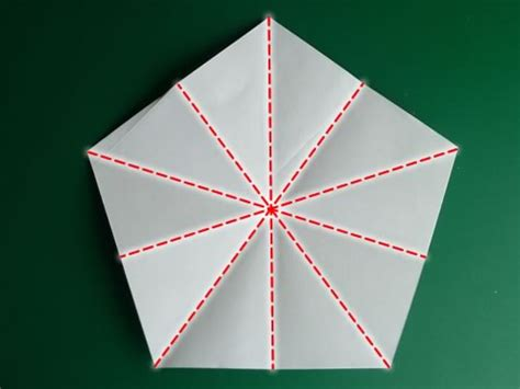 Origami Five Pointed - folding 5 pointed origami ornaments