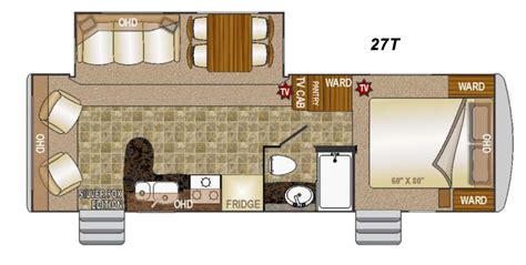 arctic fox rv floor plans 2015 northwood arctic fox 27t
