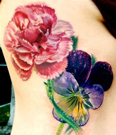 tattoo carnation flower carnation and violet tattoo tattoos pinterest