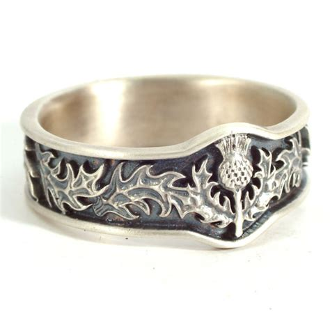 Scottish Wedding Rings by Scottish Thistle Ring With Leaves In Eternity Wedding Ring