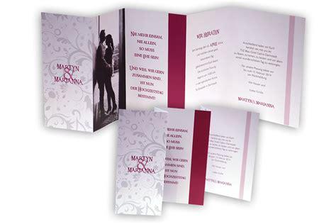 Einladung Hochzeit Pink by Leporello Foto Hochzeitseinladung Pink