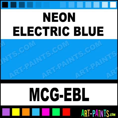 neon electric blue glitter paints mcg ebl