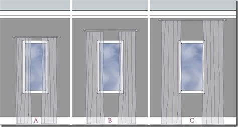 how high should curtain rods be above window simple tips for making a big impact with your window