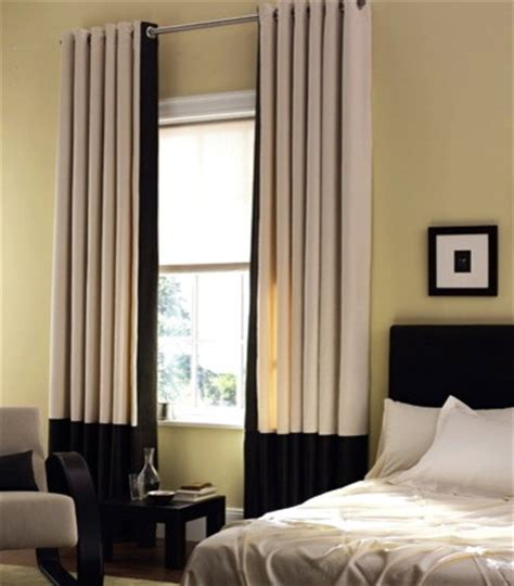 modern window treatments grommet panels with a grand band modern window