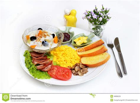 Breakfast Set Western Breakfast Set Menu Stock Photo Image 48686225