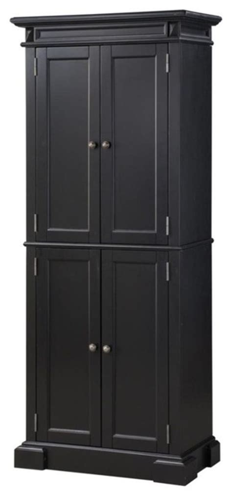 Black Kitchen Pantry Cabinet Americana Black Pantry Transitional Pantry Cabinets By Home Styles Furniture