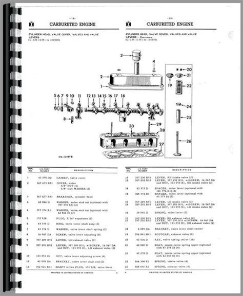 International Harvester Td340 Crawler Parts Manual