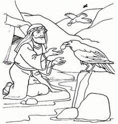 Sunday School  Elijah On Pinterest The Raven Bible Stories And sketch template