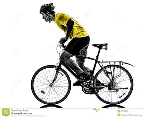 berta monta en bici silueta de la bici de monta 241 a del hombre que monta en bicicleta fotograf 237 a de archivo libre de