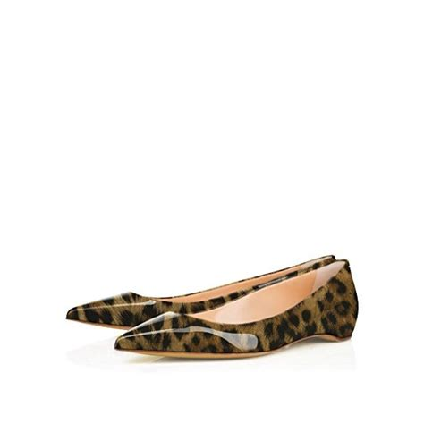 comfortable leopard flats leopard print flats patent leather pointy toe comfortable