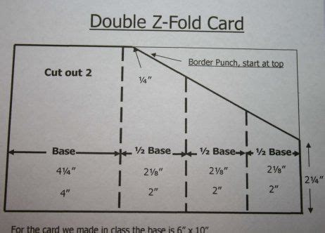 z fold card template z fold card tutorial tips tricks tutorials