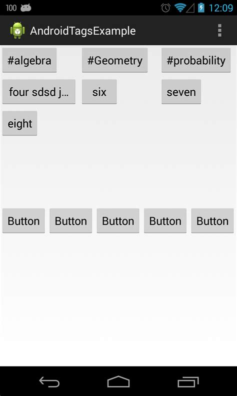 android layout button height tags android multiple button in single tablerow stack