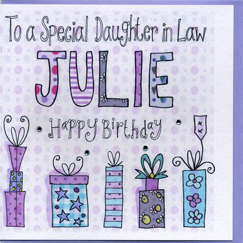 in law personalised daughter in law birthday card by claire