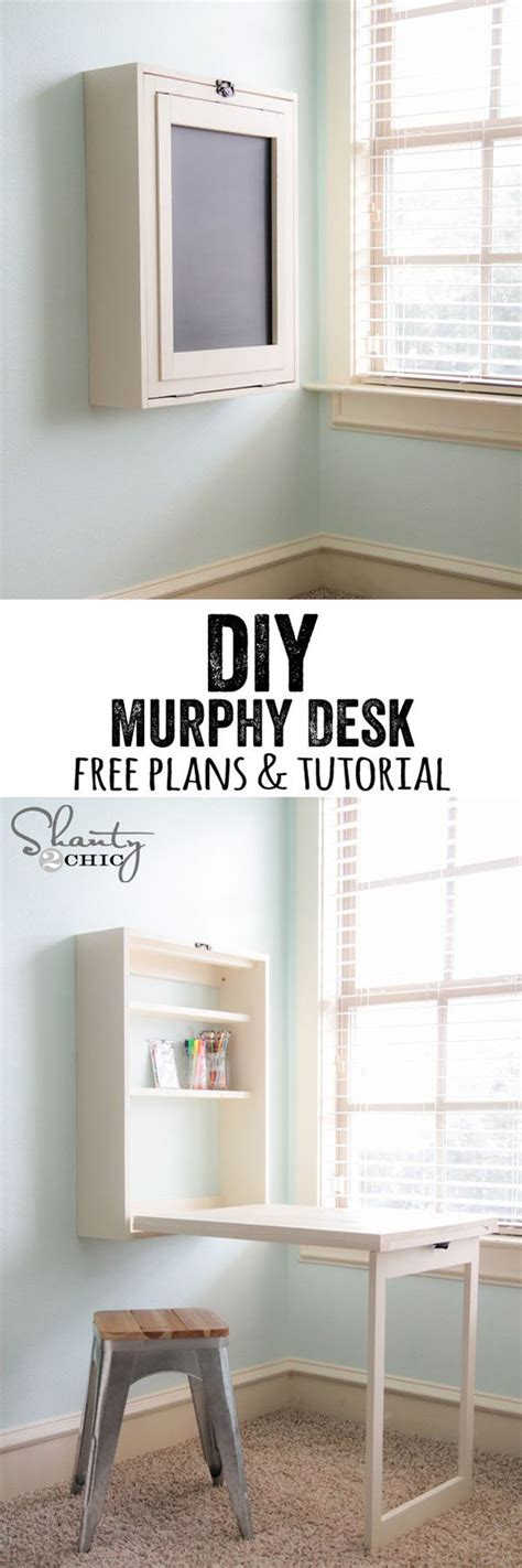 26 Ingenious Diy Ideas For Small Spaces Diy Ready Diy Murphy Desk