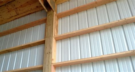 Enclosed Bookshelf Wall Girts Installation Portland Oregon Locke Buildings