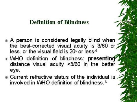 The Term For Blindness Is definition of blindness