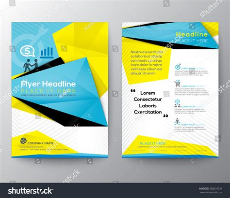 Abstract Triangle Geometric Brochure Flyer Design Stock Vector 238016737 Shutterstock Geometric Design Templates