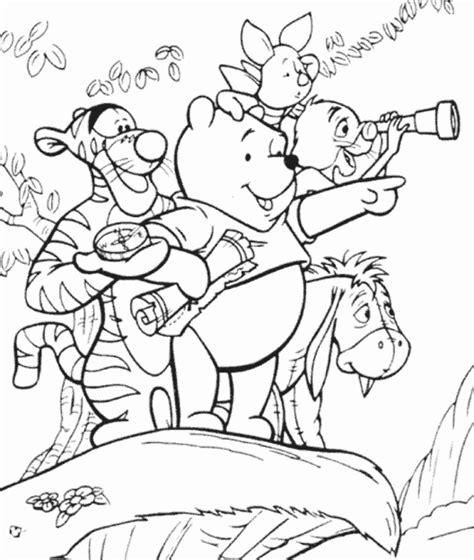 15 gambar sketsa mewarnai kartun winnie the pooh yang lucu si gambar