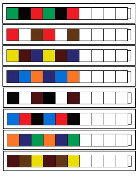 elementary pattern games unifix pattern worksheets print out and or make your own
